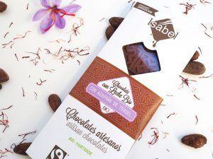 Tableta de Chocolate con Leche y Azafrán de Teruel - BIO y ECO 2