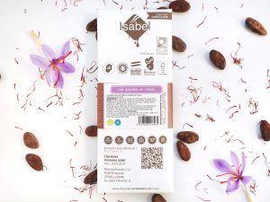 Tableta de Chocolate con Leche y Azafrán de Teruel - BIO y ECO 3