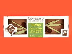 Turrón de trufa de Chocolate 73% BIO y Aceite de Oliva Virgen Extra