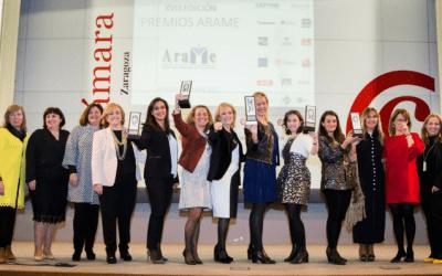 Isabel Félez, galardonada por ARAME, la Asociación de Mujeres Empresarias de Aragón