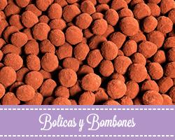Bolicas y bombones de chocolate