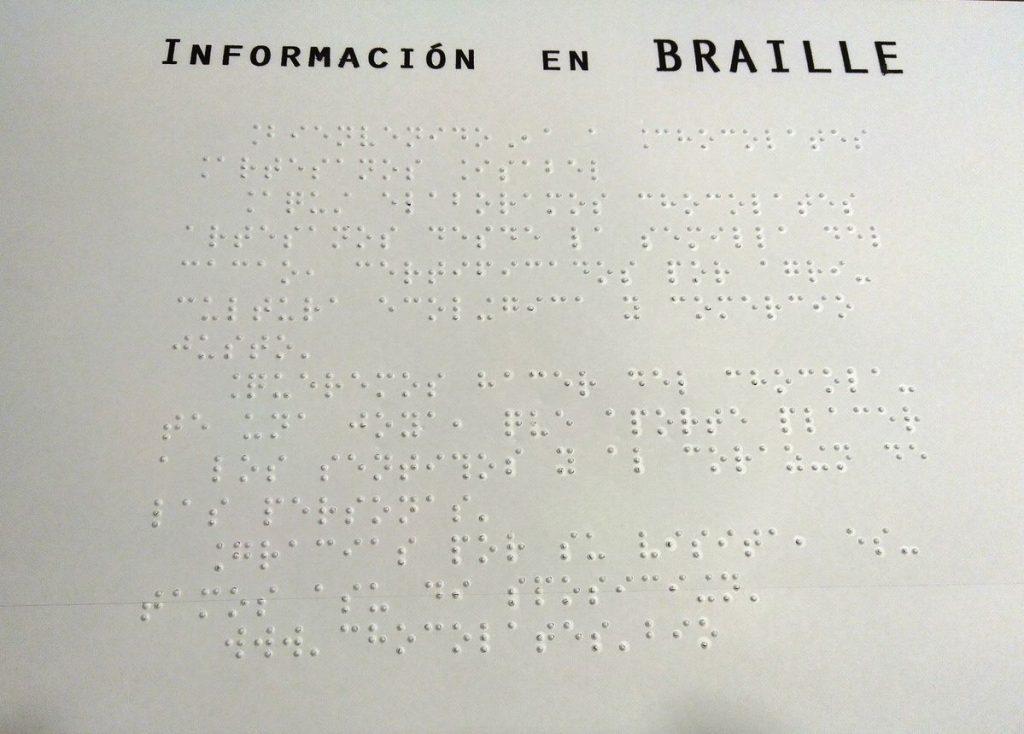 señalización en braille