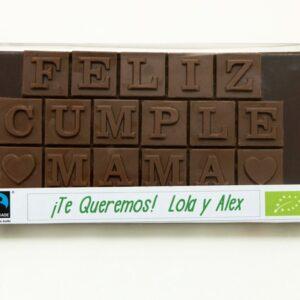 tableta de chocolate personalizada