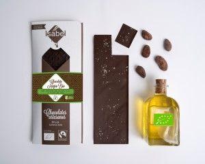 Chocolate Negro con Aceite de Oliva Virgen Extra y Flor de Sal