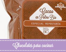 Chocolate artesano para cocinar