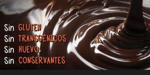 Chocolate artesano saludable. Sin alérgenos, sin gluten, sin conservantes, sin transgénicos.