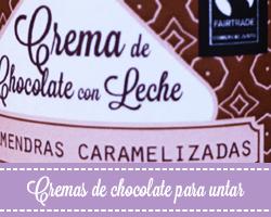 Cremas de chocolate artesano para untar