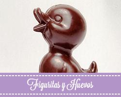 Figuritas y huevos de chocolate artesano