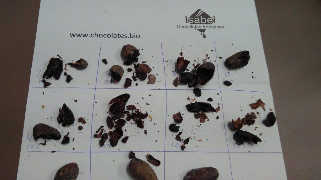 Hoja de monitorización del tostado del cacao | Chocolates Artesanos Isabel