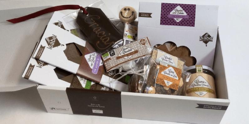 Lotes navideños de chocolates bio - Chocolates Artesanos Isabel