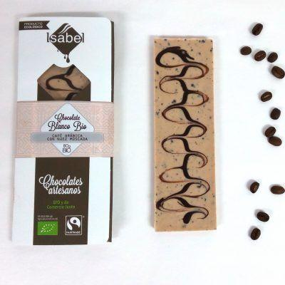 Tableta BIO Chocolate Blanco con Café Arábica y Nuez Moscada